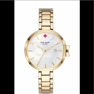 Kate Spade Mother of Pearl Stainless Gold Watch